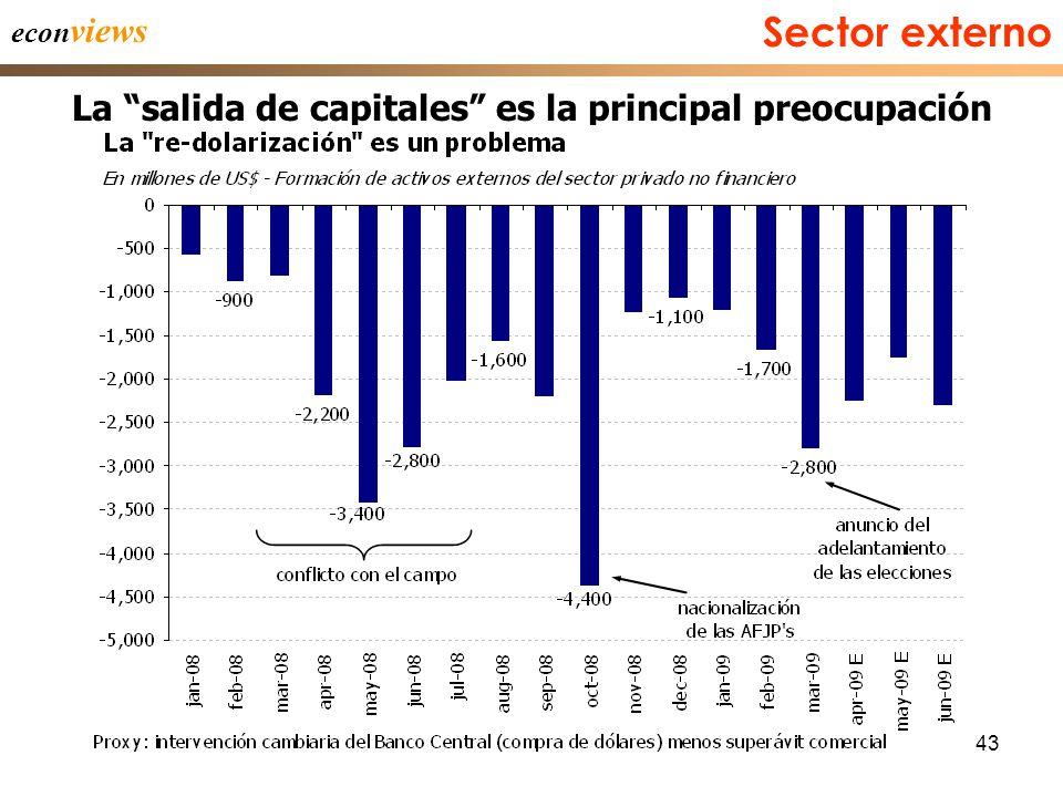 43 econ views La salida de capitales es la principal preocupación Sector externo