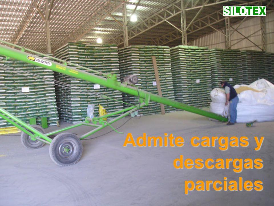 Admite cargas y descargas parciales