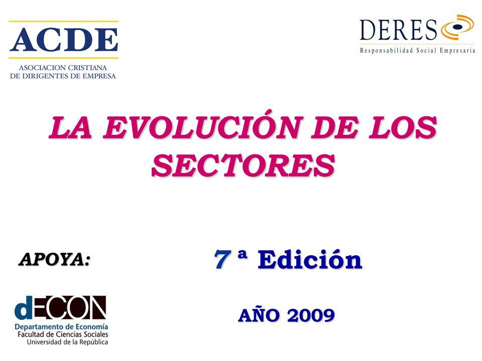 LA EVOLUCIÓN DE LOS SECTORES 7 ª Edición AÑO 2009 APOYA: