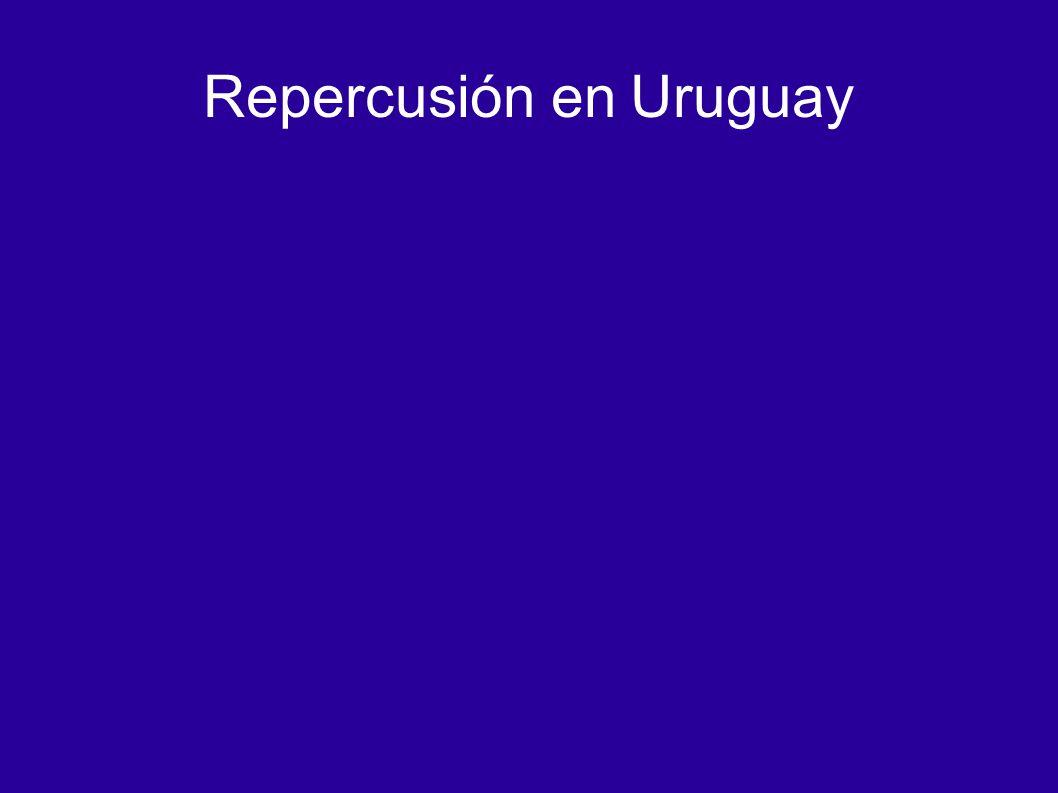 Repercusión en Uruguay