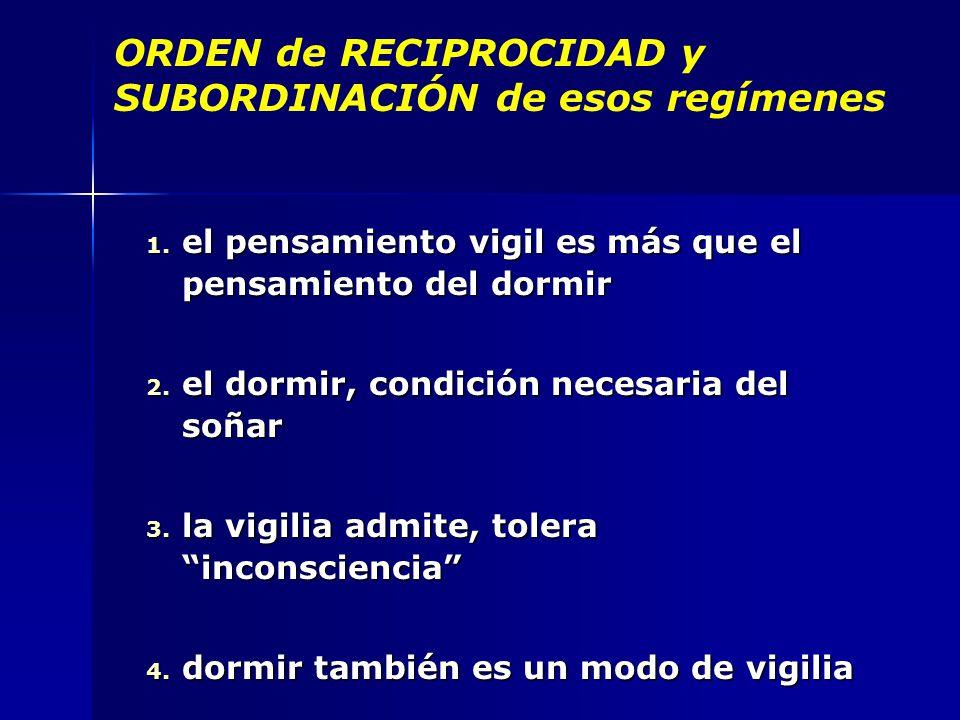 ORDEN de RECIPROCIDAD y SUBORDINACIÓN de esos regímenes 1.
