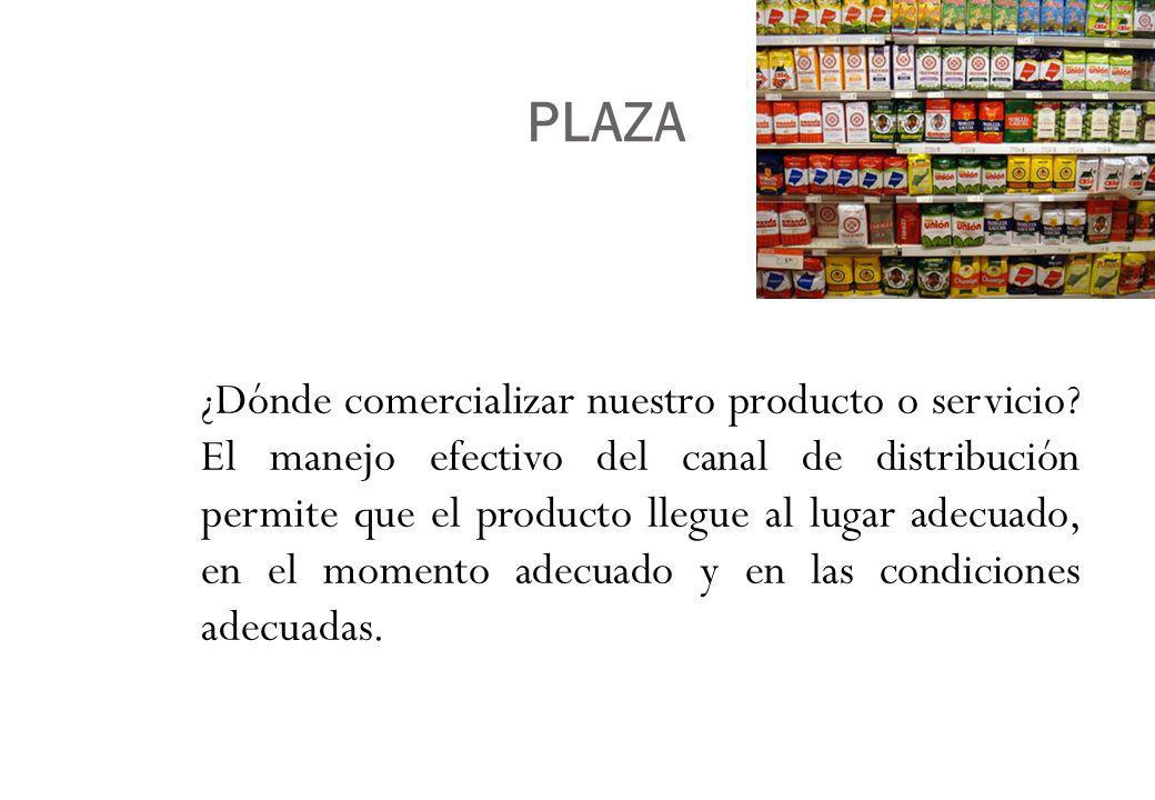 PLAZA ¿Dónde comercializar nuestro producto o servicio.