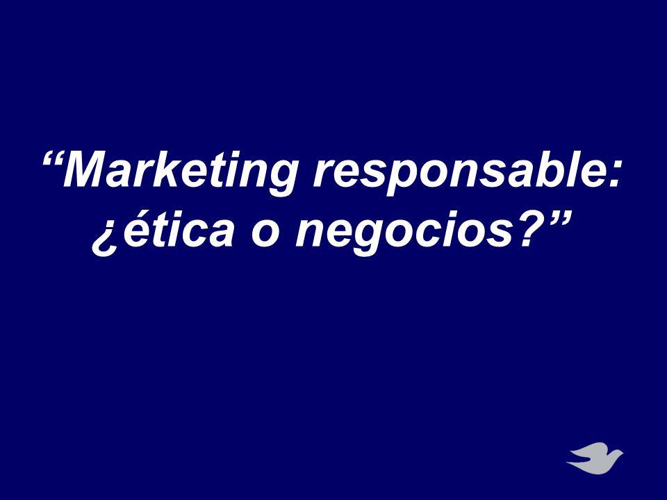 Marketing responsable: ¿ética o negocios?