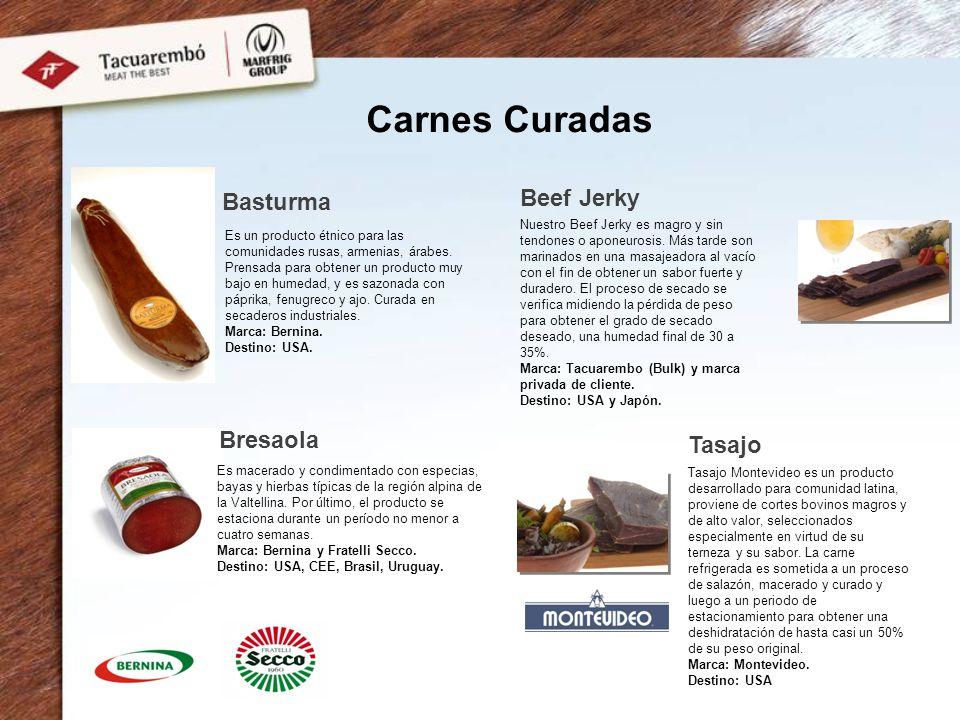 Carnes Curadas Basturma Beef Jerky Tasajo Es un producto étnico para las comunidades rusas, armenias, árabes.