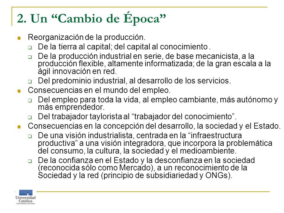 2. Un Cambio de Época Reorganización de la producción.