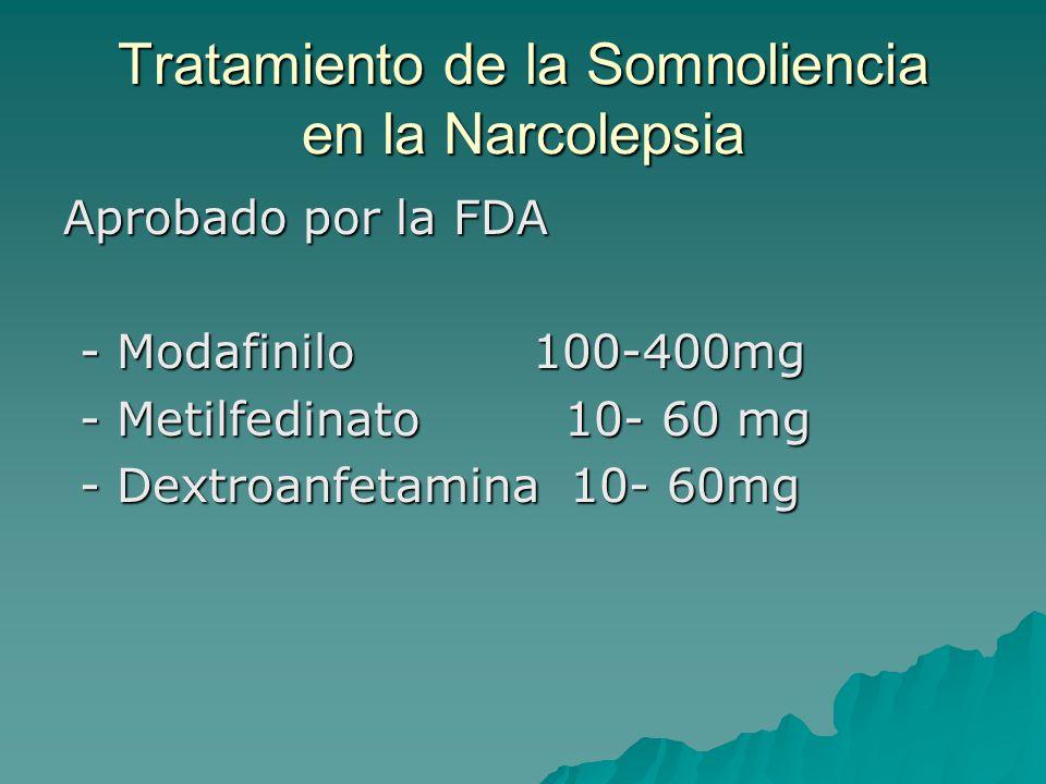 Tratamiento de la Somnoliencia en la Narcolepsia Aprobado por la FDA - Modafinilo 100-400mg - Modafinilo 100-400mg - Metilfedinato 10- 60 mg - Metilfe