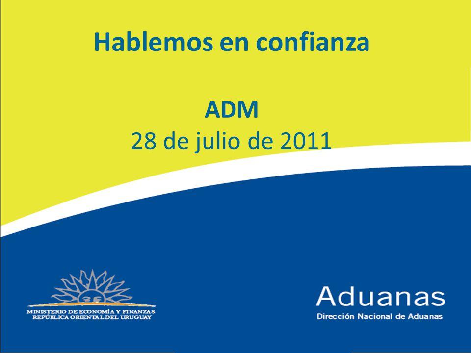 Hablemos en confianza ADM 28 de julio de 2011