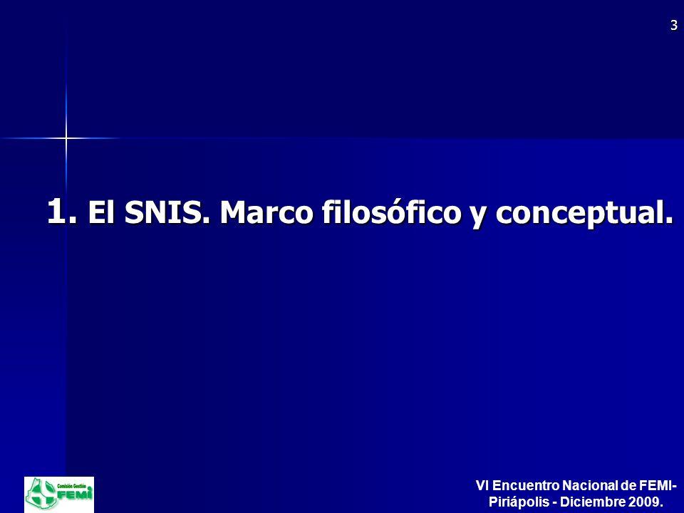 1. El SNIS. Marco filosófico y conceptual.