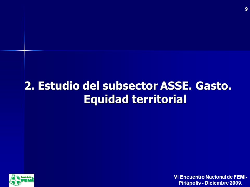 2. Estudio del subsector ASSE. Gasto.