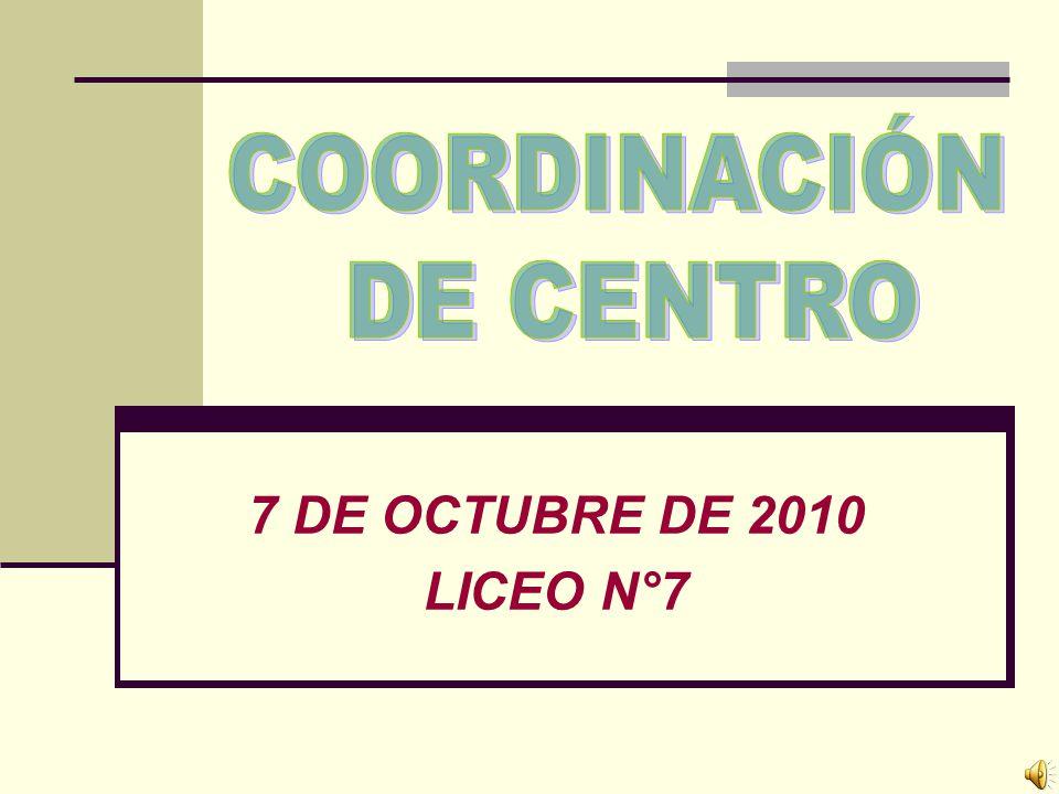 7 DE OCTUBRE DE 2010 LICEO N°7