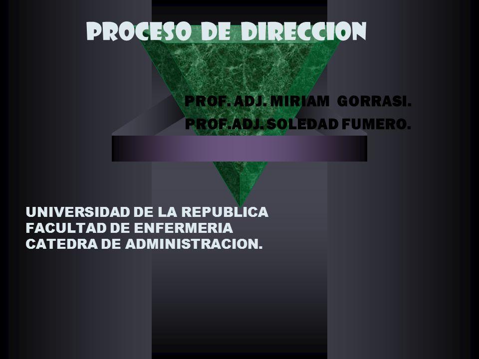 UNIVERSIDAD DE LA REPUBLICA FACULTAD DE ENFERMERIA CATEDRA DE ADMINISTRACION.