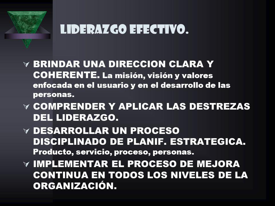LIDERAZGO EFECTIVO.BRINDAR UNA DIRECCION CLARA Y COHERENTE.