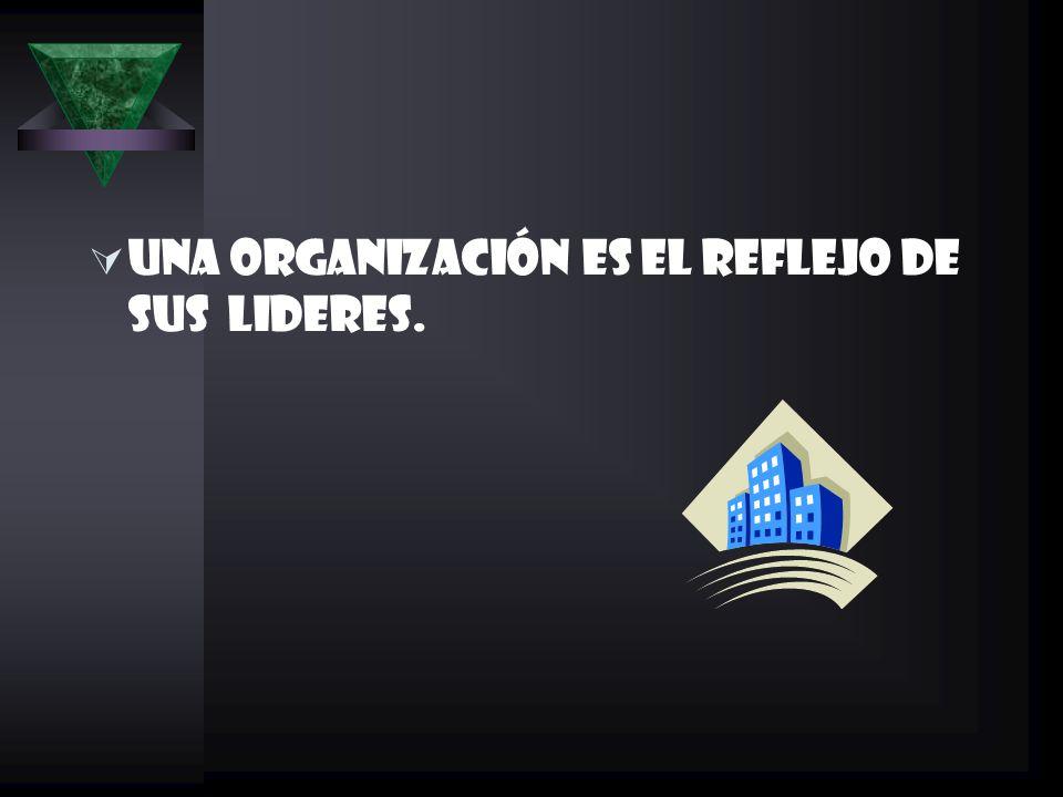 UNA ORGANIZACIÓN ES EL REFLEJO DE SUS LIDERES.