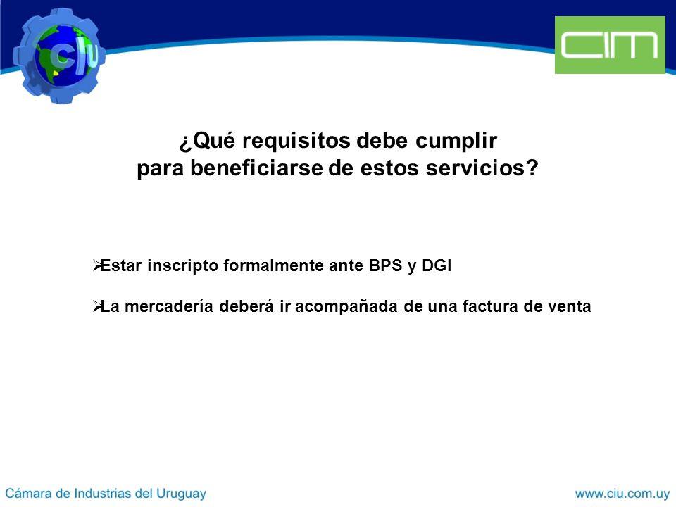 ¿Qué requisitos debe cumplir para beneficiarse de estos servicios.