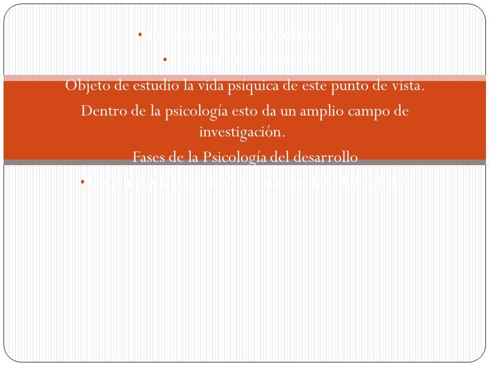 Problemas de la psicología del desarrollo El problema genético Explicación con leyes generales.