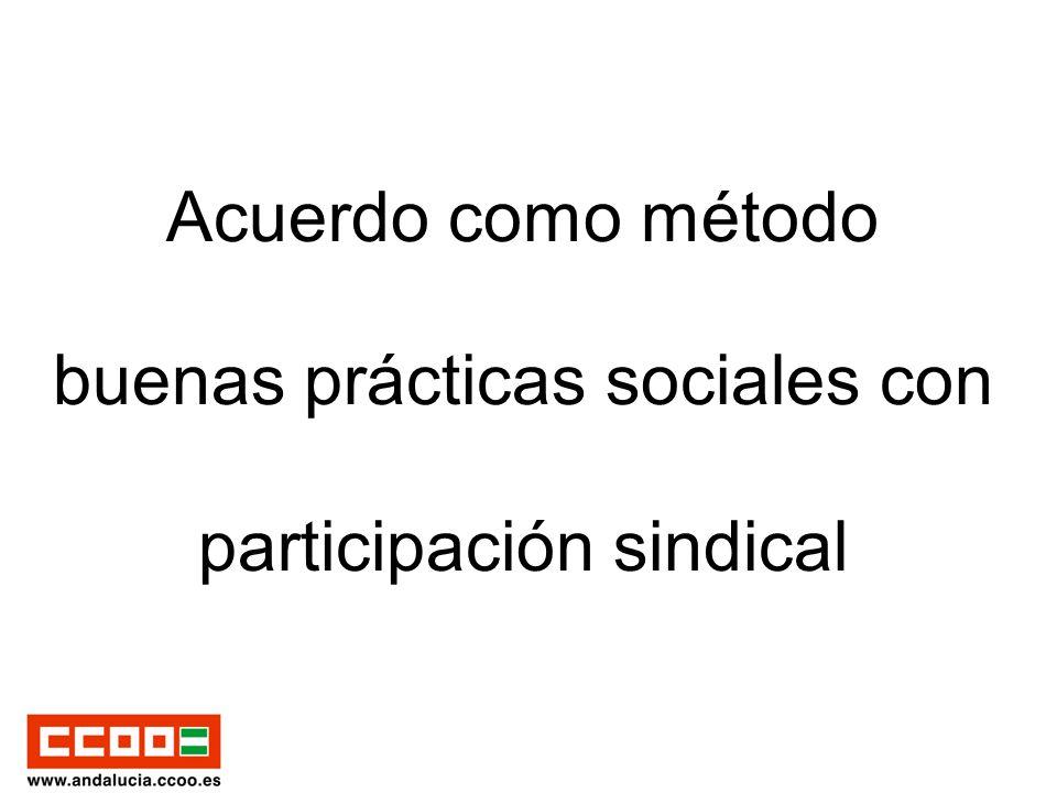 Acuerdo como método buenas prácticas sociales con participación sindical