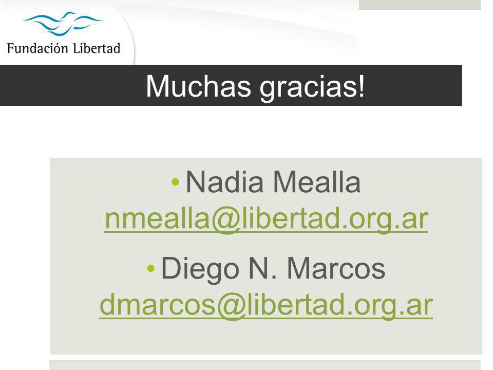Muchas gracias. Nadia Mealla nmealla@libertad.org.ar nmealla@libertad.org.ar Diego N.