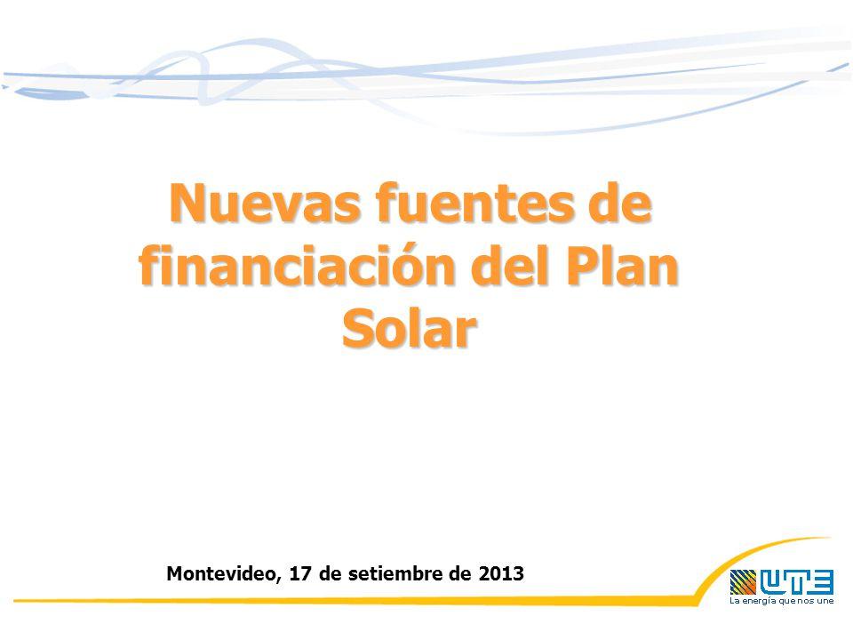Nuevas fuentes de financiación del Plan Solar Montevideo, 17 de setiembre de 2013