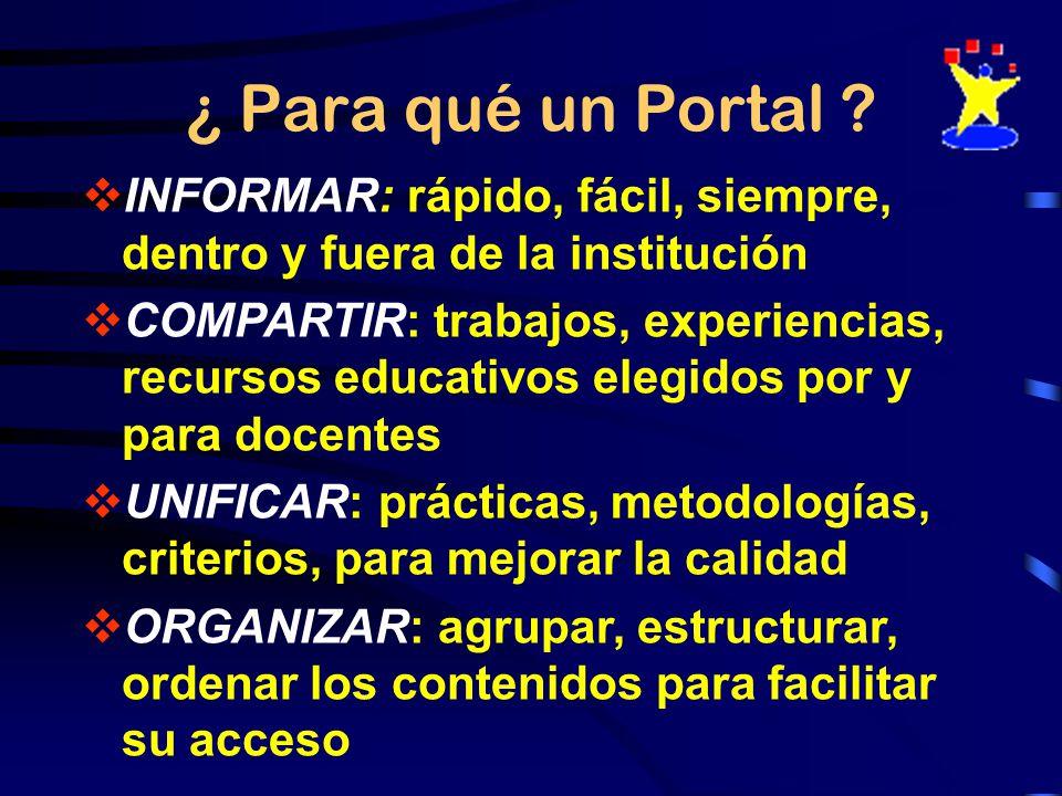 ¿ Para qué un Portal .