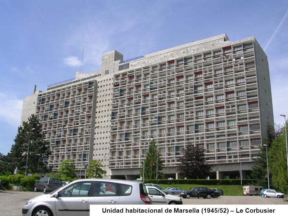 Unidad habitacional de Marsella (1945/52) – Le Corbusier