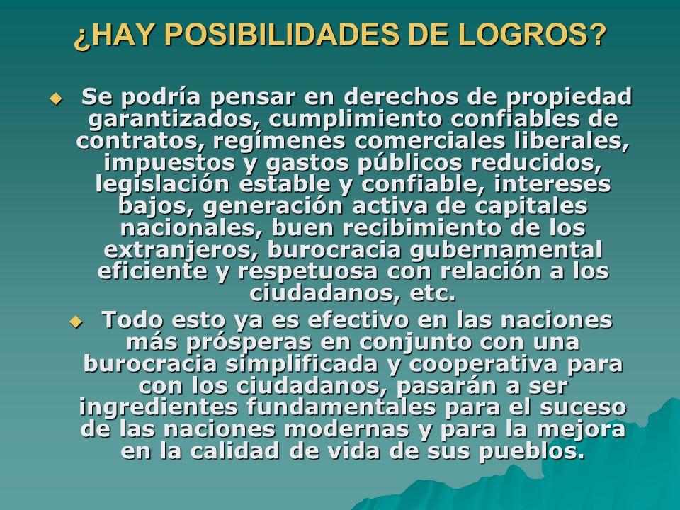 ¿HAY POSIBILIDADES DE LOGROS.