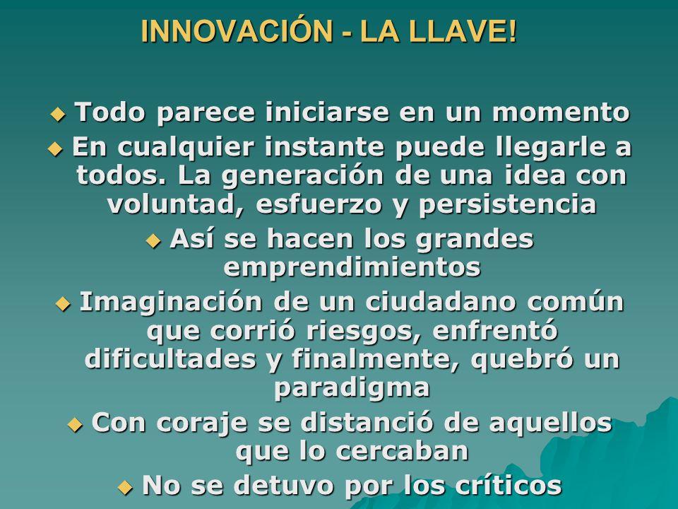INNOVACIÓN - LA LLAVE.