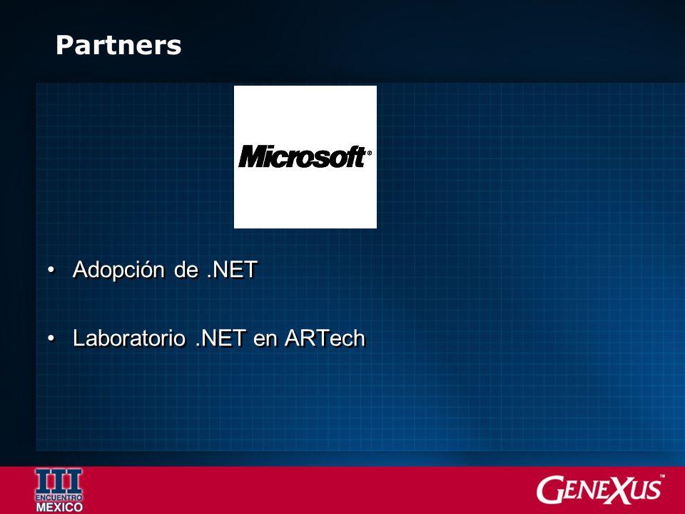 Partners Adopción de.NET Laboratorio.NET en ARTech Adopción de.NET Laboratorio.NET en ARTech