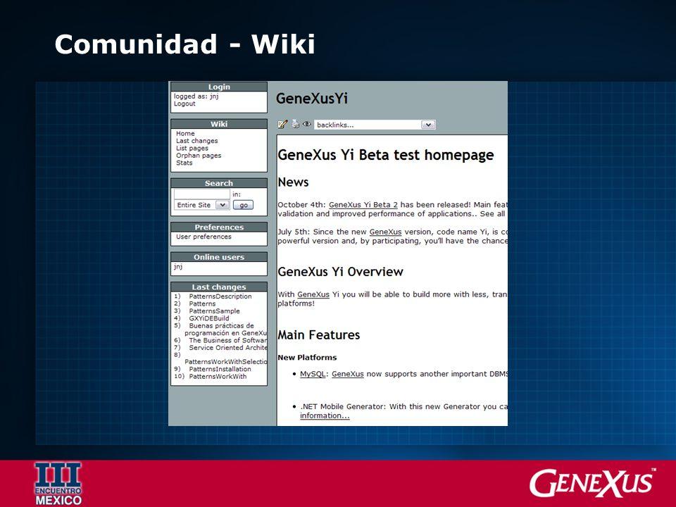 Comunidad - Wiki