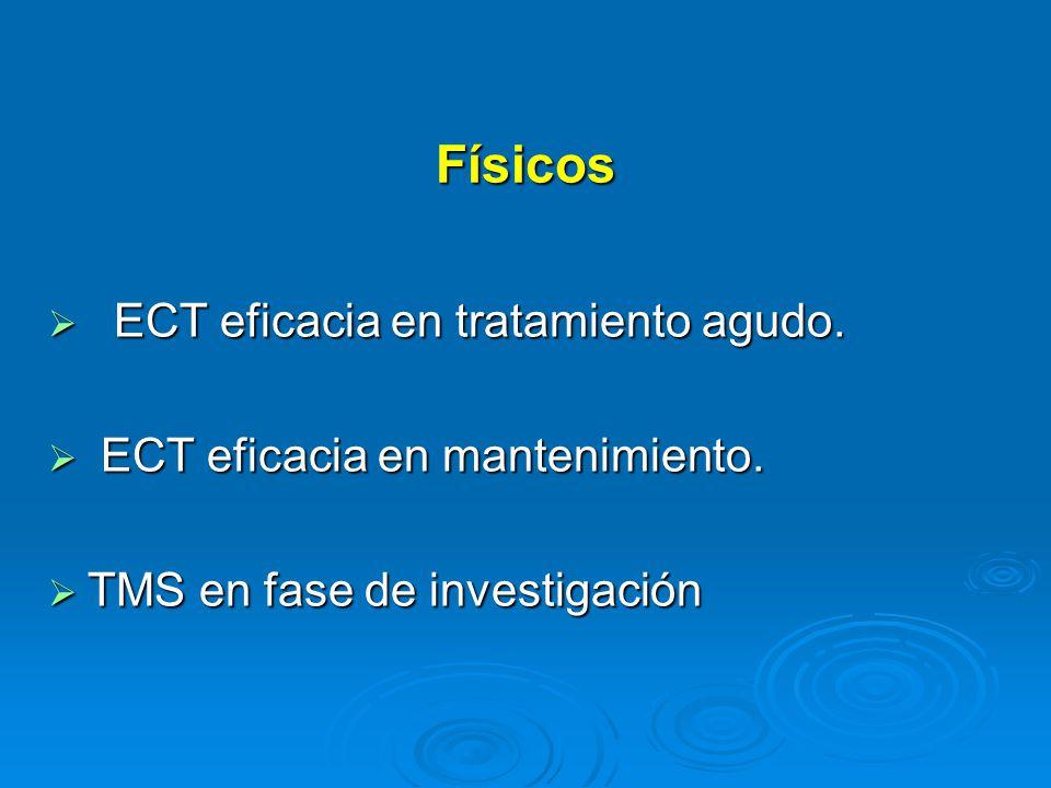 Físicos ECT eficacia en tratamiento agudo.ECT eficacia en tratamiento agudo.