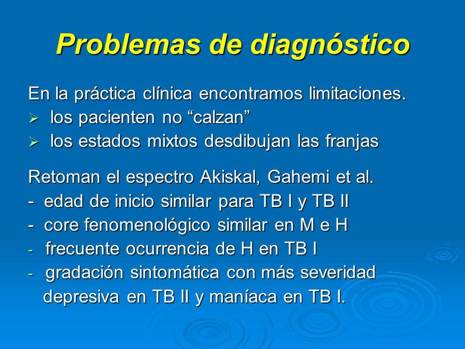Problemas de diagnóstico En la práctica clínica encontramos limitaciones.