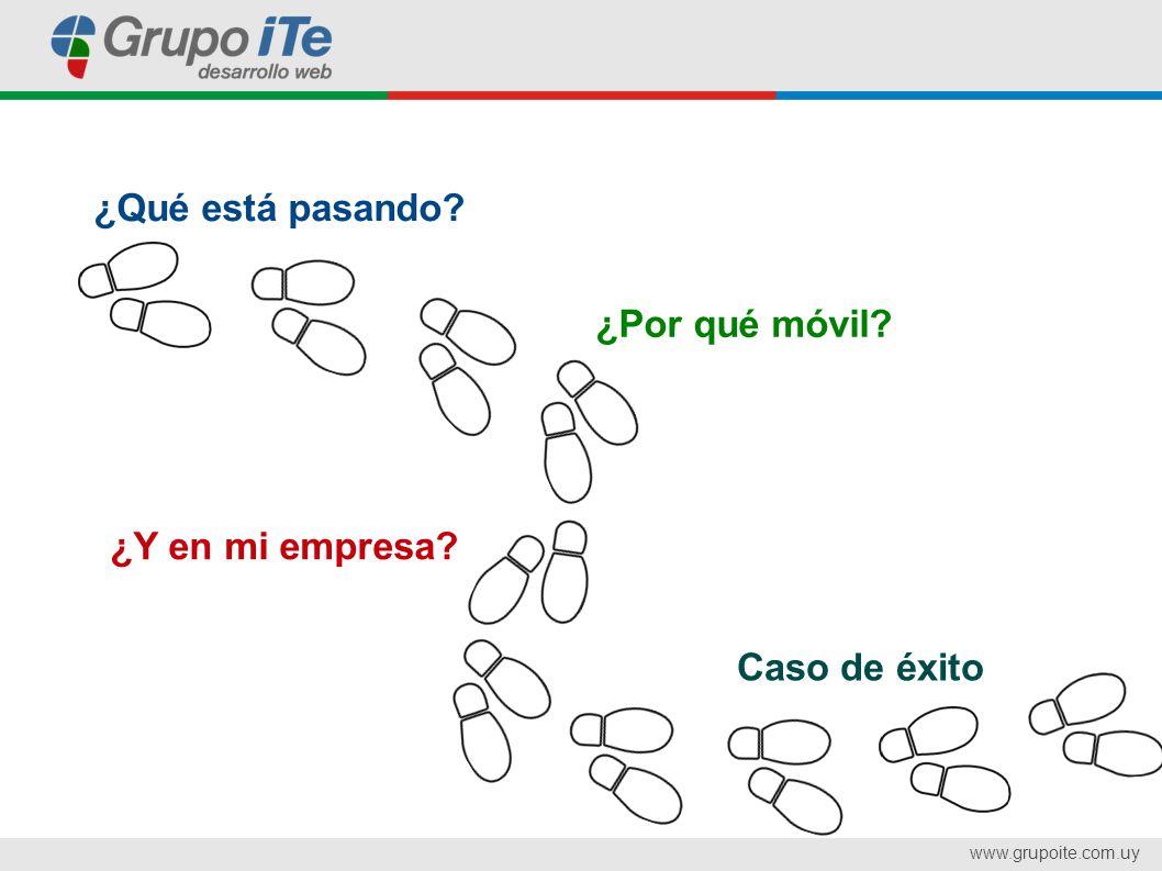 www.grupoite.com.uy Caso de éxito ¿Qué está pasando ¿Por qué móvil ¿Y en mi empresa