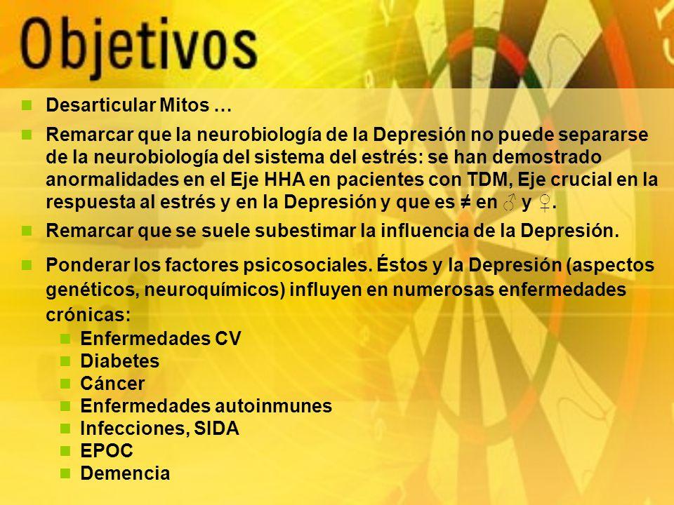 Depresión y Demencia La depresión está asociada con un riesgo aumentado de demencia y Enfermedad de Alzheimer en los hombres y mujeres mayores (1).