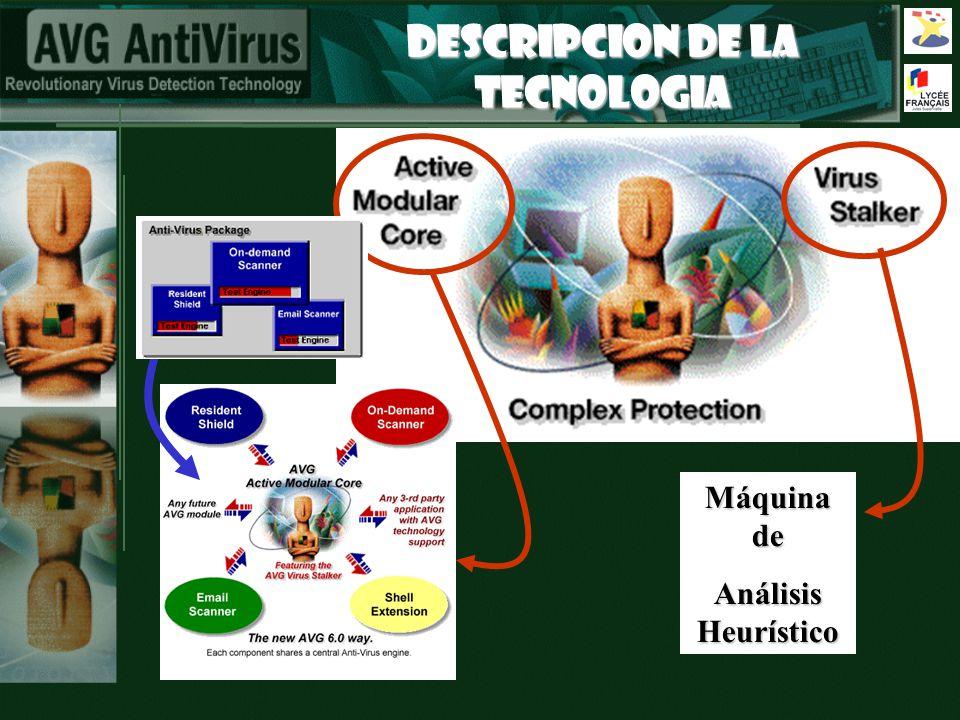 DESCRIPCION DE LA TECNOLOGIA Máquina de Análisis Heurístico