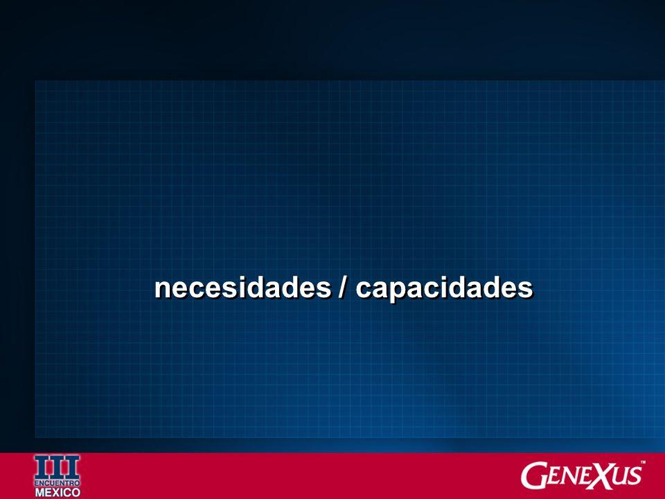 necesidades / capacidades
