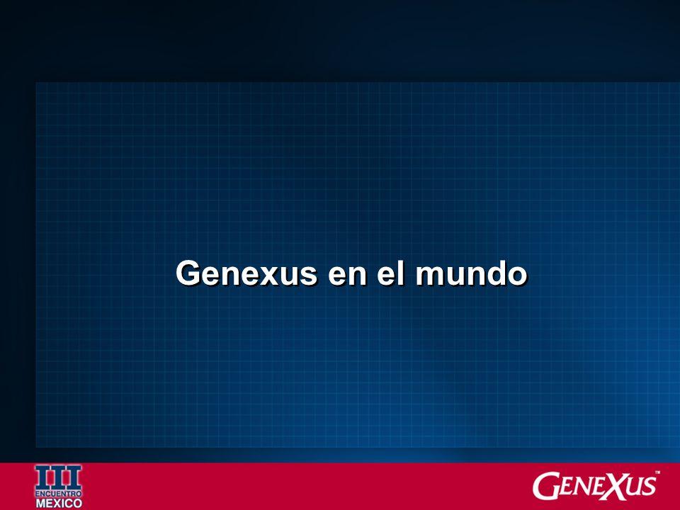 Genexus en el mundo