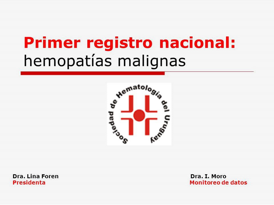 Primer registro nacional: hemopatías malignas Dra.