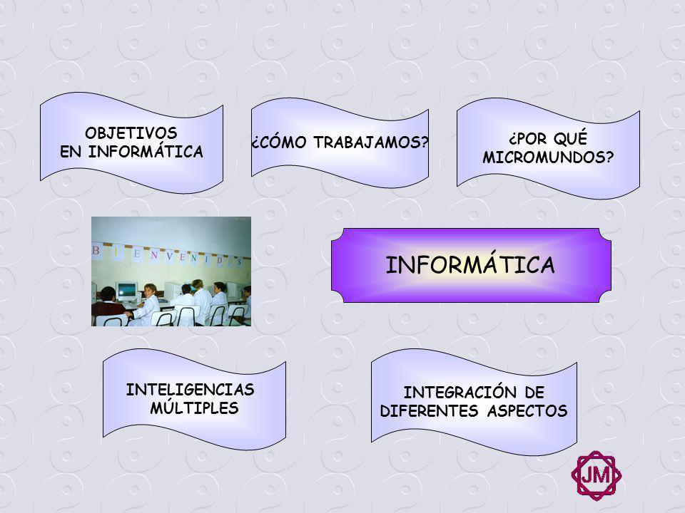 OBJETIVOS GENERALES EN INFORMÁTICA Realizar un software con la participación de todos los alumnos que permita presentar desde las herramientas informáticas, algunas de las investigaciones y aportes realizados por ellos en forma coordinada y multimedial.