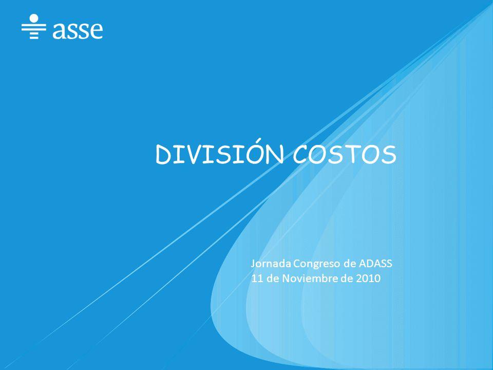 DIVISIÓN COSTOS Jornada Congreso de ADASS 11 de Noviembre de 2010
