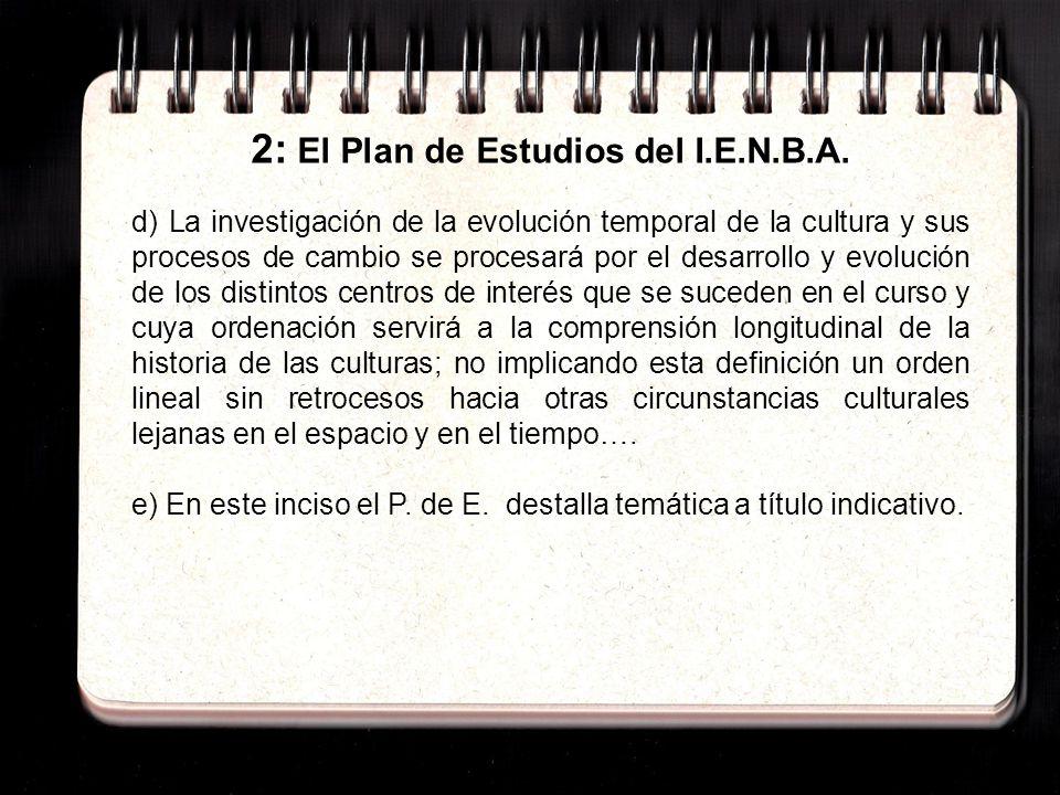 2: El Plan de Estudios del I.E.N.B.A.