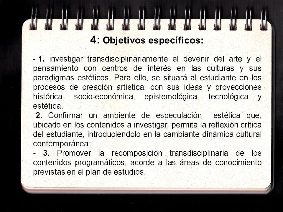 4: Objetivos específicos: - 1.