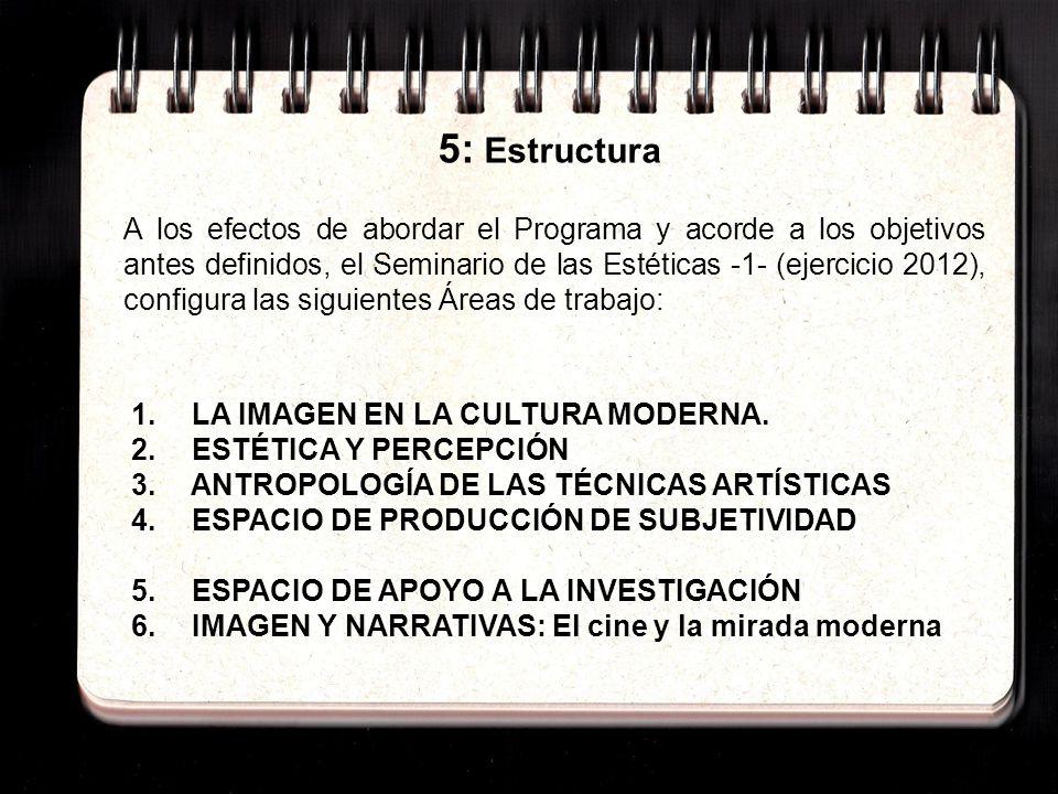 5: Estructura 1. LA IMAGEN EN LA CULTURA MODERNA.