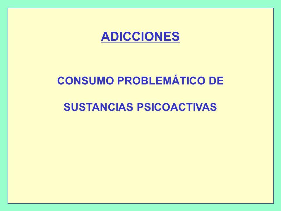 ADICCIONES CONSUMO PROBLEMÁTICO DE SUSTANCIAS PSICOACTIVAS
