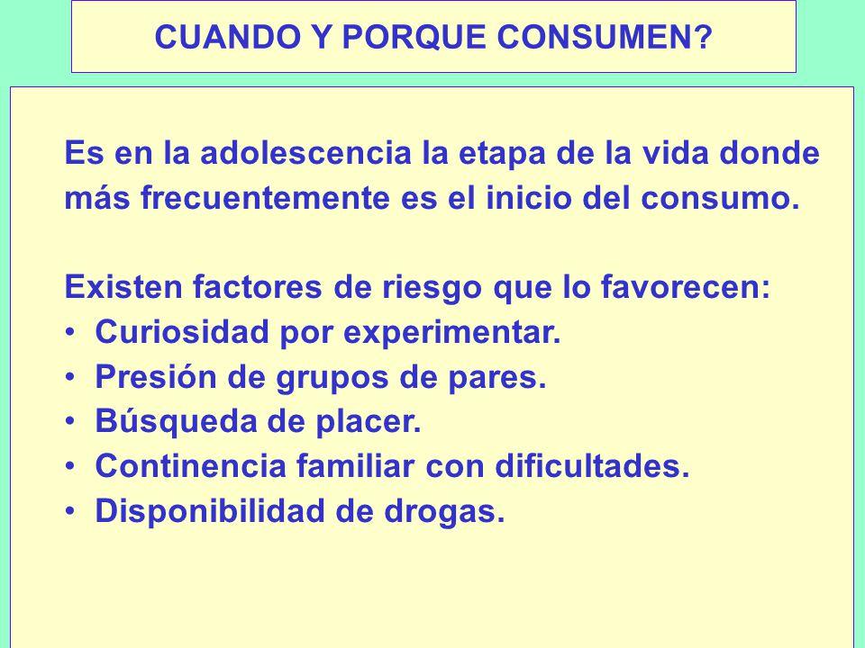 CUANDO Y PORQUE CONSUMEN.