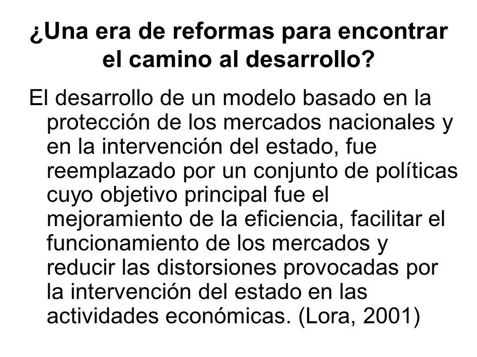 ¿Una era de reformas para encontrar el camino al desarrollo? El desarrollo de un modelo basado en la protección de los mercados nacionales y en la int
