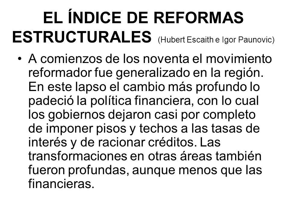 A comienzos de los noventa el movimiento reformador fue generalizado en la región.