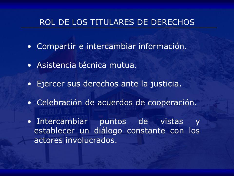 Intervinientes en el proceso SERVICIOS DE ADUANAS AGENTES DE ADUANA TITULARES DE DERECHOS DEPARTAMENTOS DE PROPIEDAD INDUSTRIAL E INTELECTUAL ORGANOS DE INVESTIGACION Y JUZGAMIENTO PENAL IMPORTADORES Y EXPORTADORES