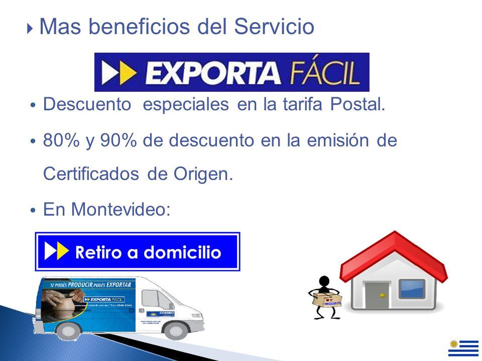Descuento especiales en la tarifa Postal.