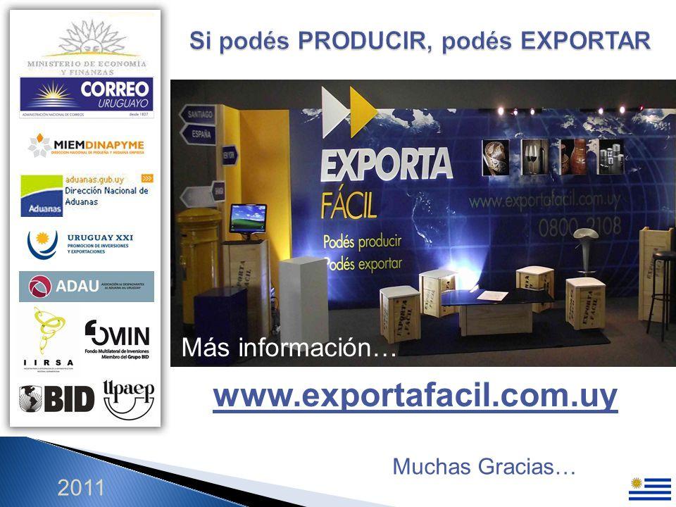 2011 Más información… www.exportafacil.com.uy Muchas Gracias…