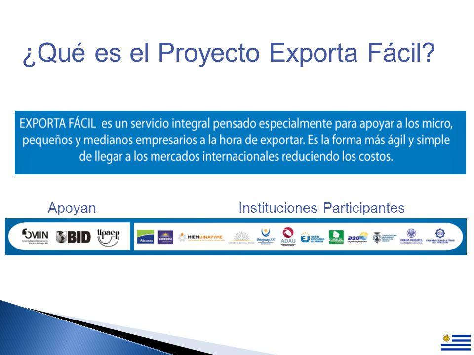 ¿Qué es el Proyecto Exporta Fácil ApoyanInstituciones Participantes