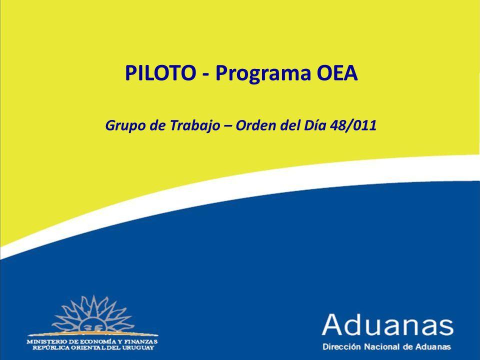 PILOTO - Programa OEA Grupo de Trabajo – Orden del Día 48/011